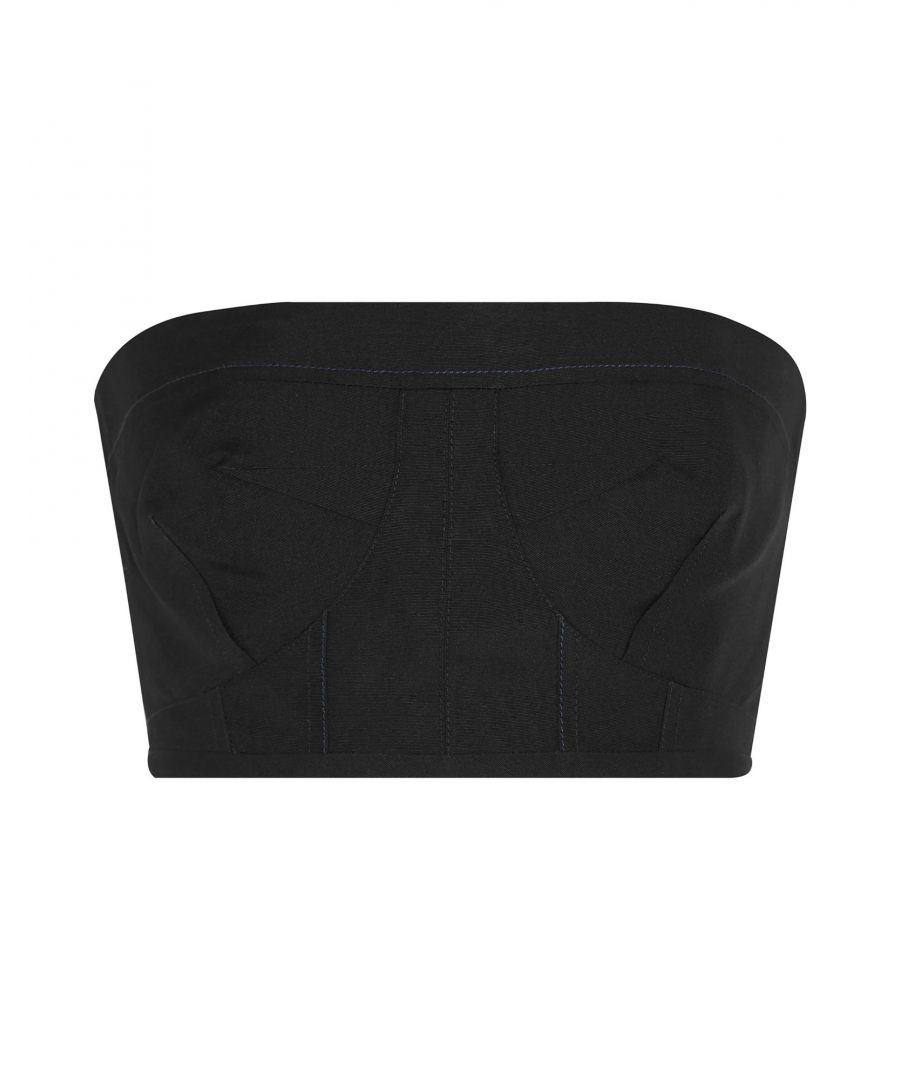 Image for Calvin Klein Collection Woman Tube tops Black Silk