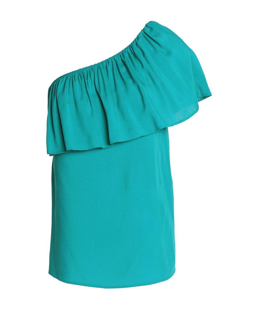 Image for Vanessa Seward Deep Jade One Shoulder Top