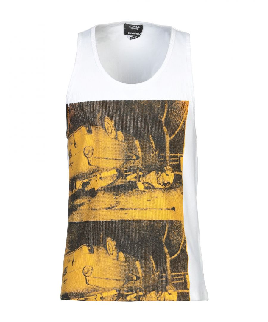 Image for Calvin Klein X Andy Warhol White Print Cotton Vest