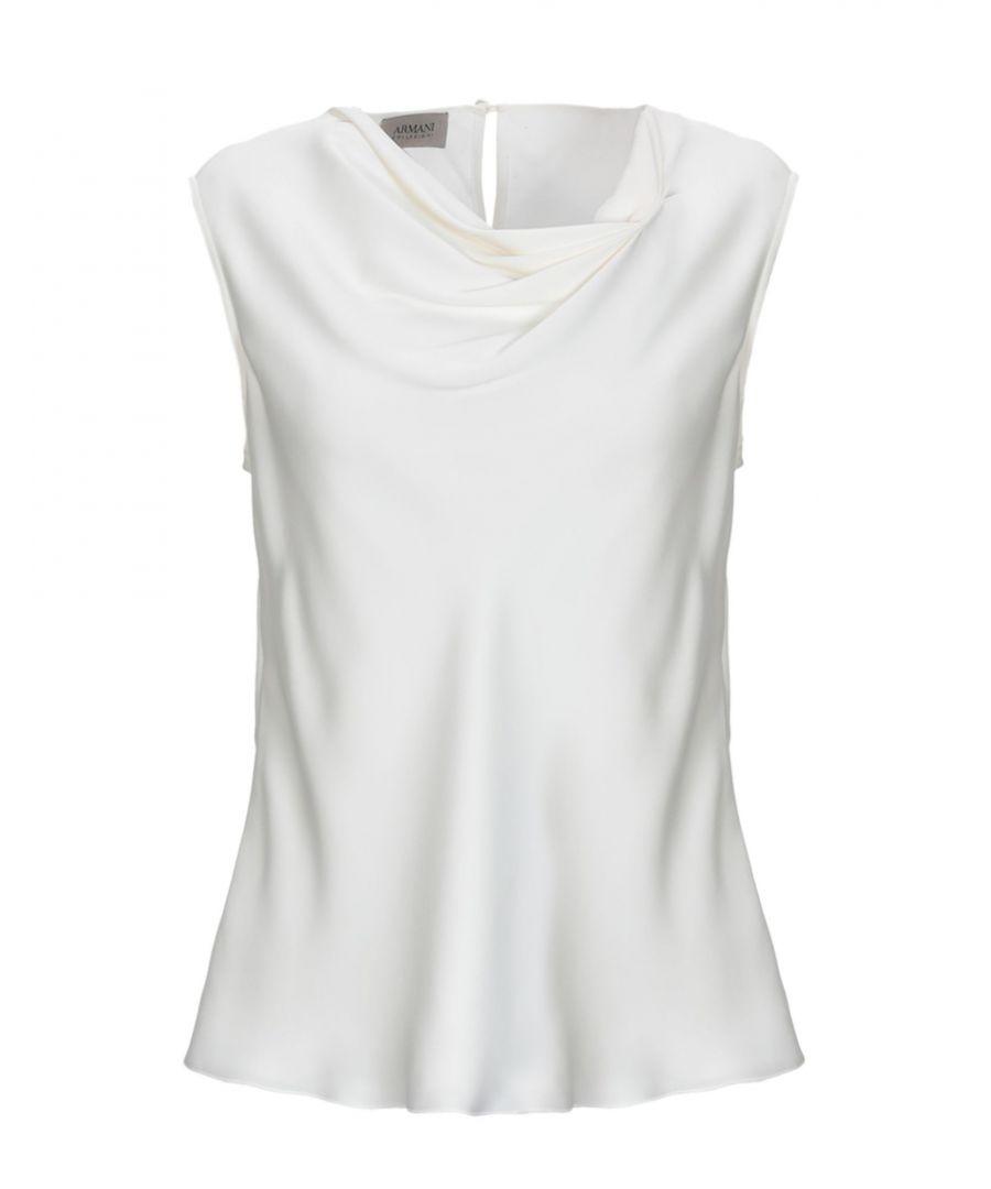 Image for Armani Collezioni White Silk Top