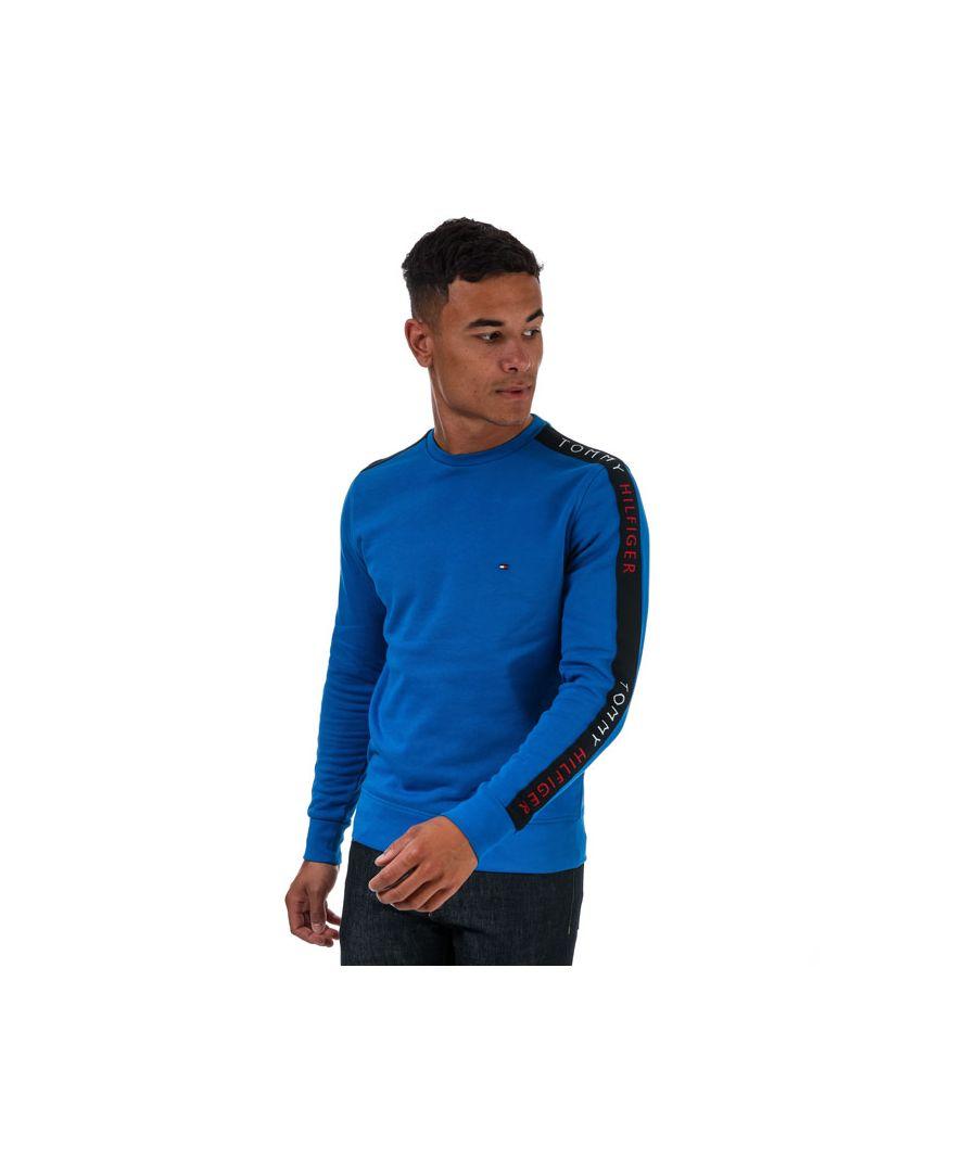 Image for Tommy Hilfiger Men's Tape Sweatshirt in Blue