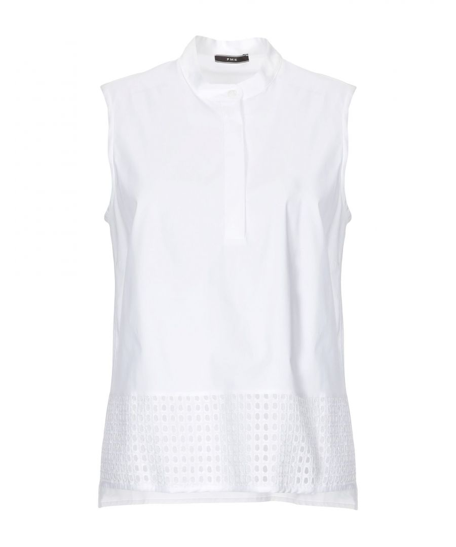 Image for Pme Peserico White Cotton Lace Sleeveless Blouse