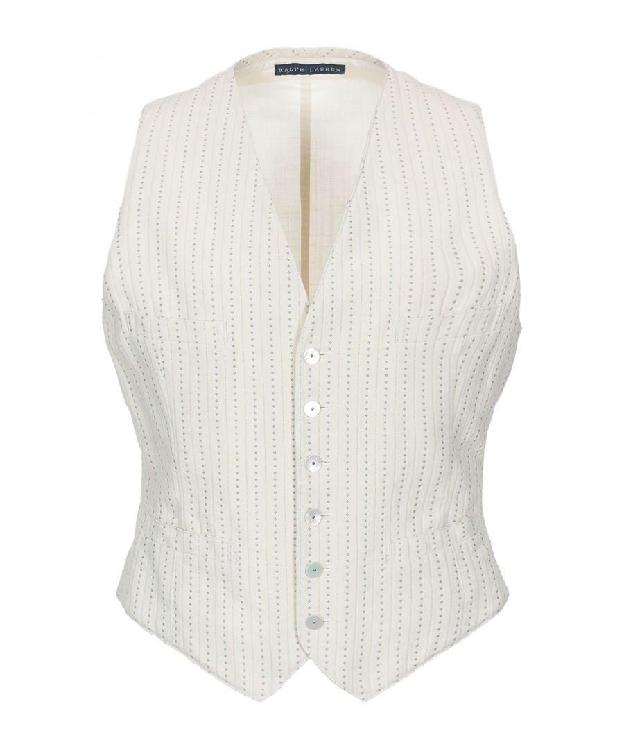 Image for Polo Ralph Lauren Ivory Cotton Jacquard Waistcoat