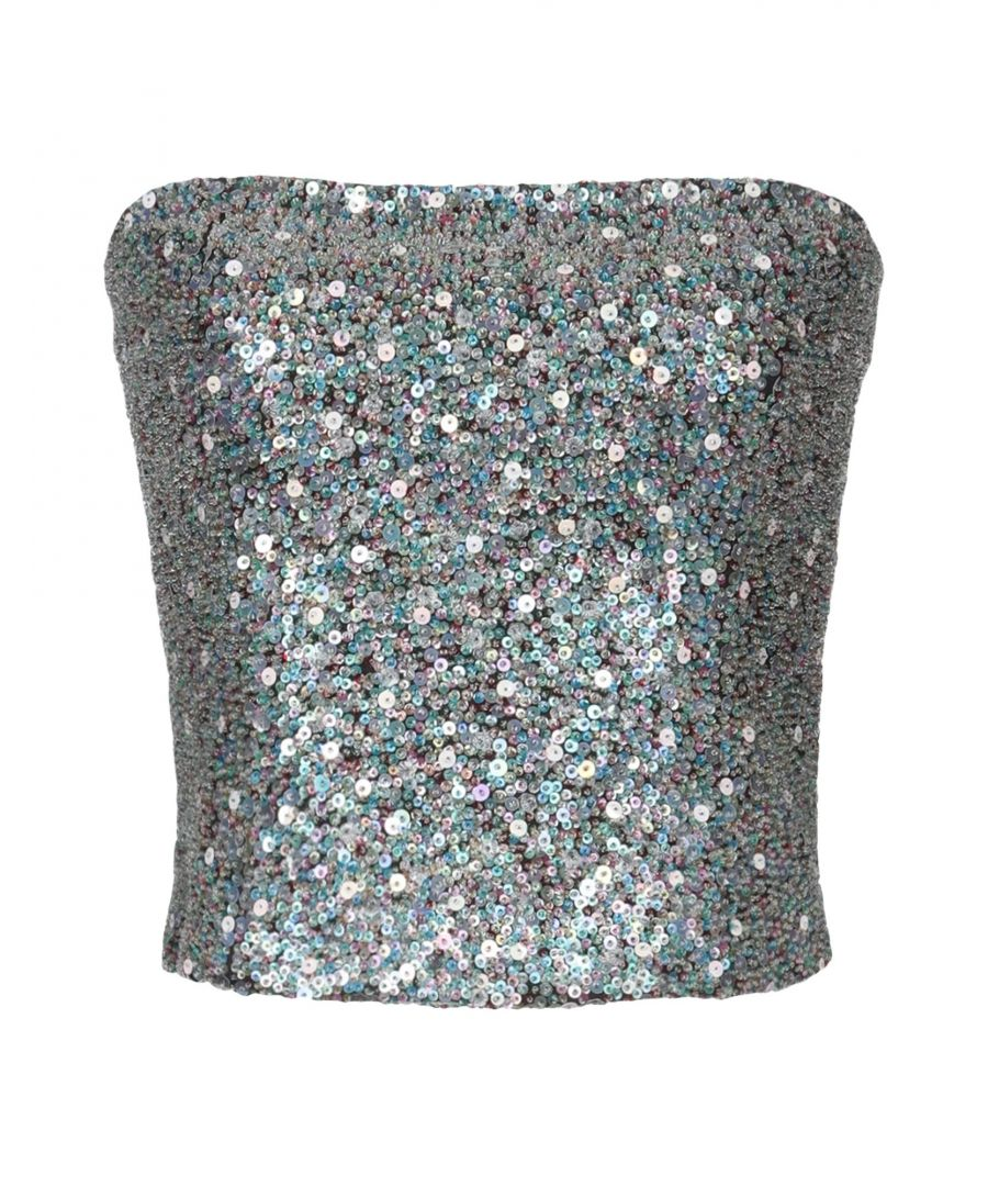 Image for Armani Collezioni Azure Sequinned Strapless Top