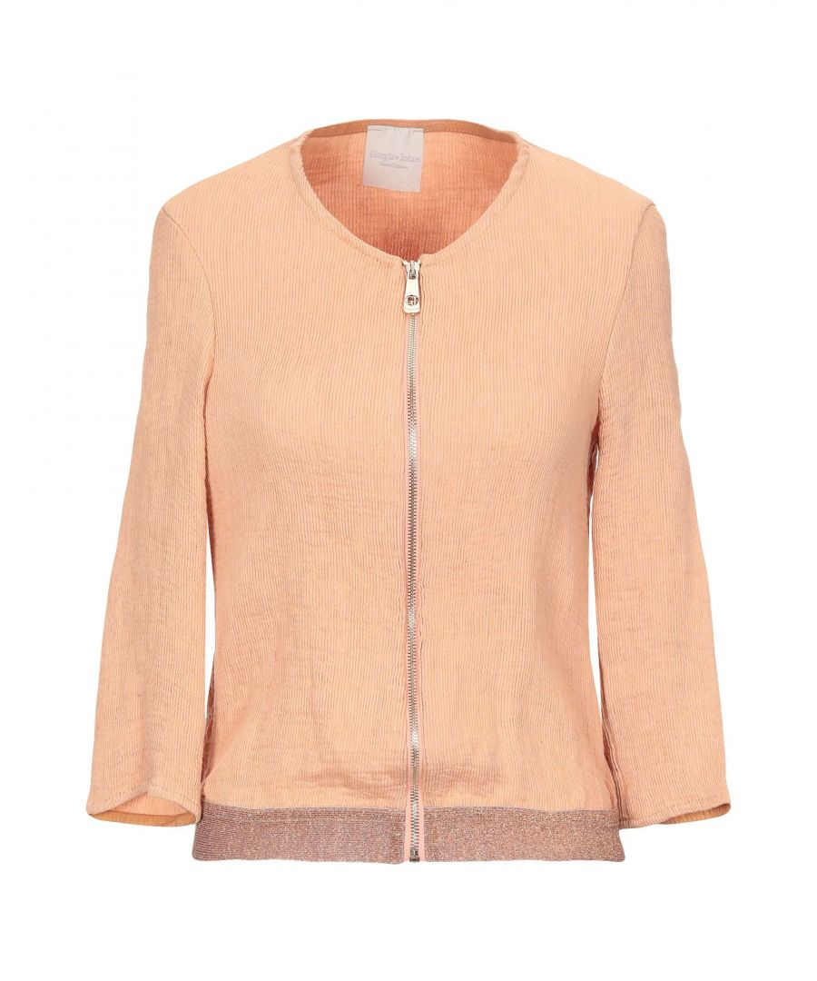 Image for Giorgia & Johns Salmon Pink Lightweight Knit Cardigan