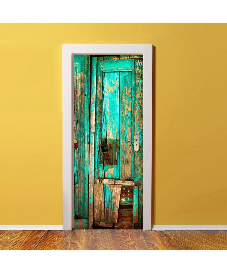 Image for Vintage Timber Self Adhesive DIY Door Mural Sticker