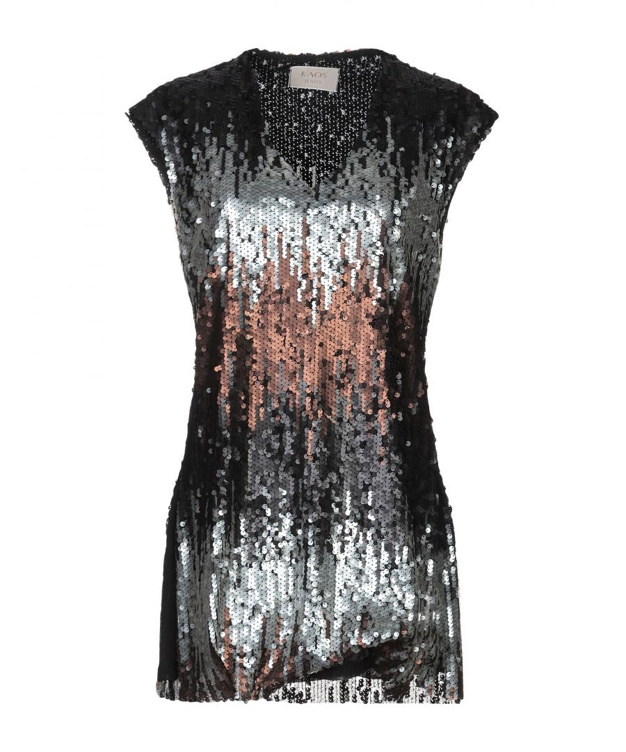 Image for Kaos Jeans Grey Sequin Top
