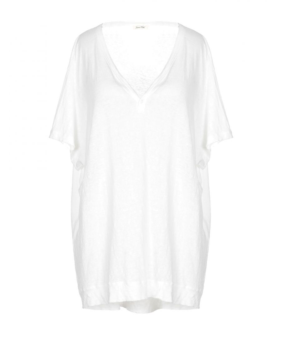 Image for TOPWEAR American Vintage White Woman Linen