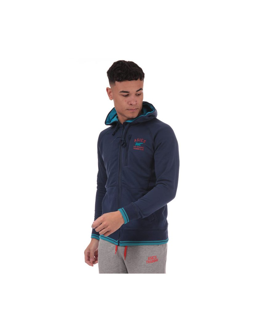 Image for Men's Asics Graphic Training FZ Hoody in Blue