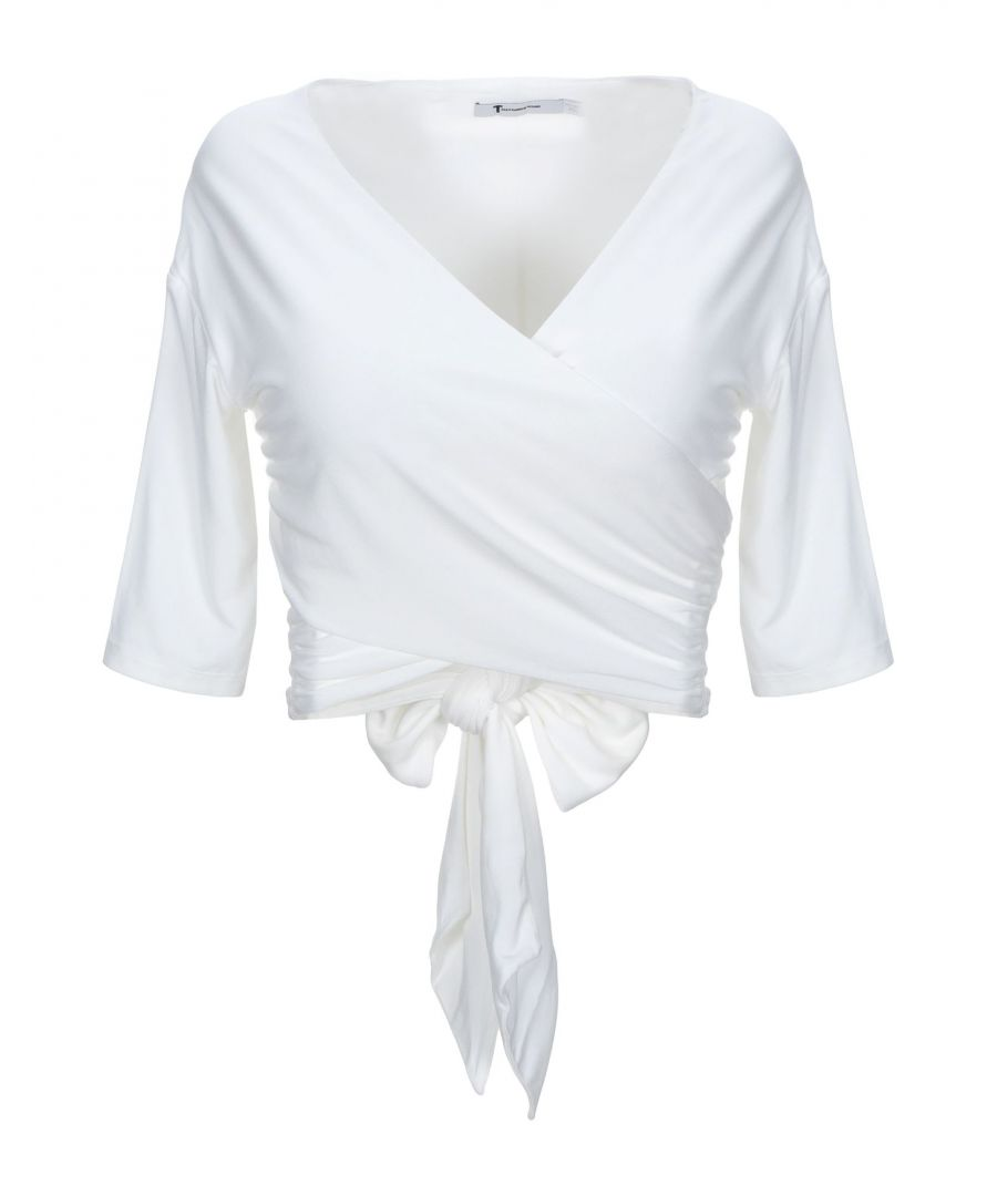 Image for Alexanderwang.T White Modal Wrap Top
