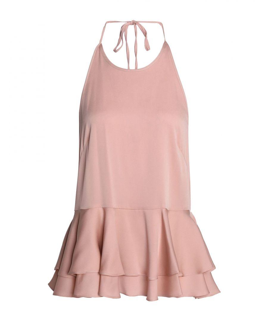 Image for Milly Pink Silk Halterneck Camisole