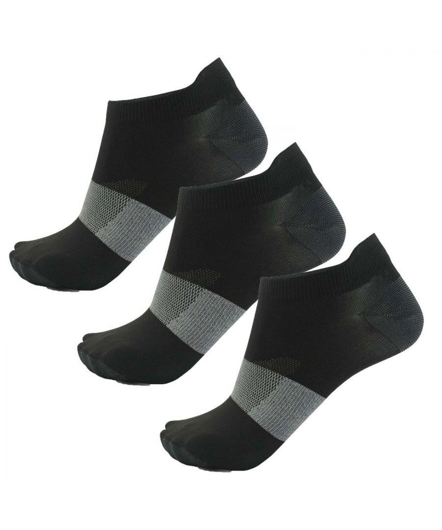 Image for Asics Lyte Ankle Sock (3 Pack) Black - UK 11-13