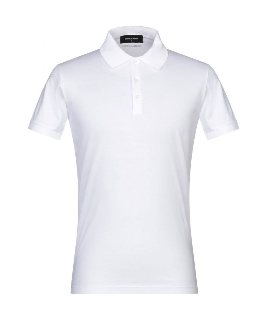 Image for Dsquared2 White Cotton Polo Shirt