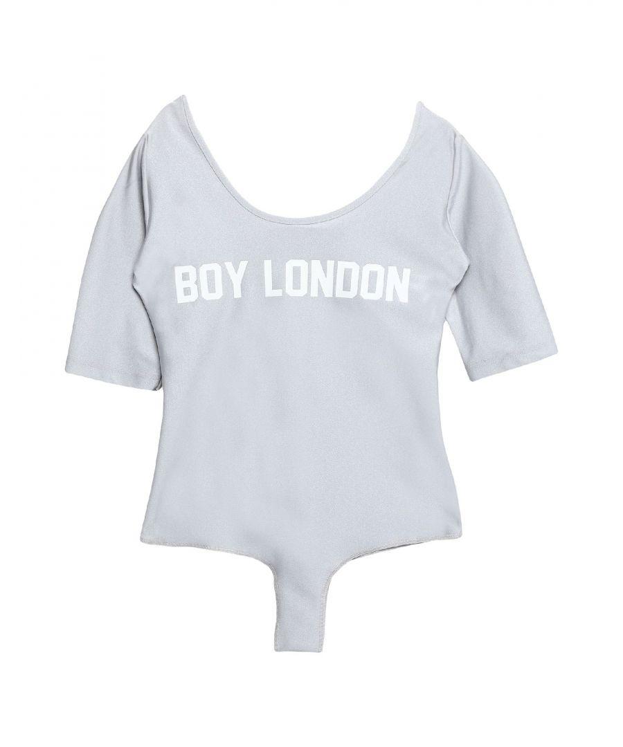 Image for Boy London Light Grey Logo Bodysuit