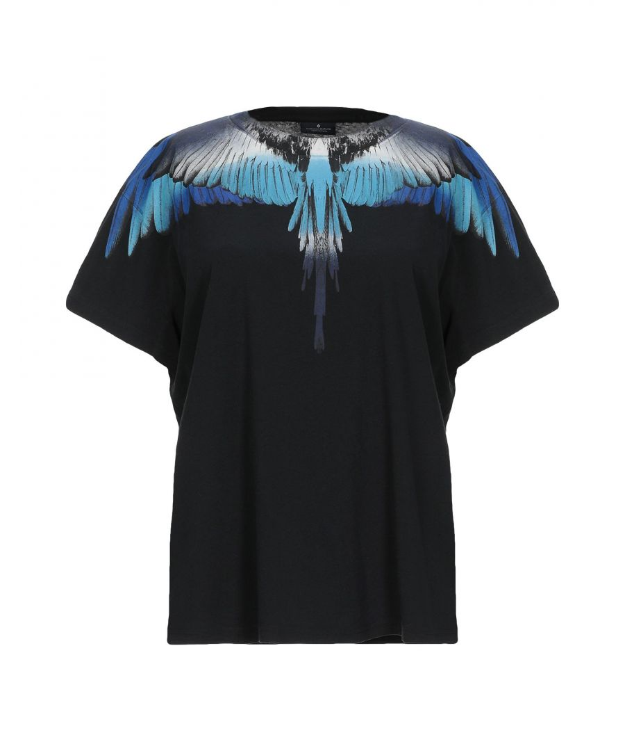Image for Marcelo Burlon Black Print Cotton T-Shirt