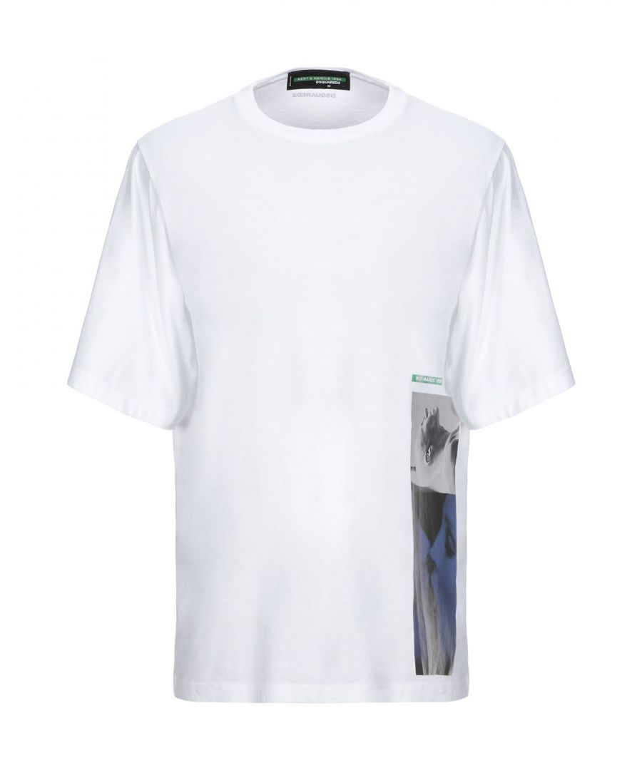 Image for Dsquared2 White Cotton Print T-Shirt