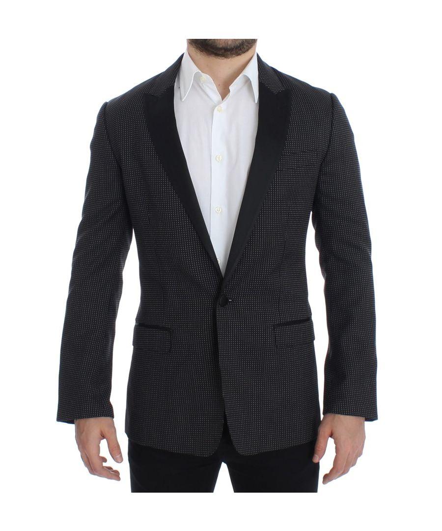 Image for Dolce & Gabbana Black wool slim MARTINI blazer