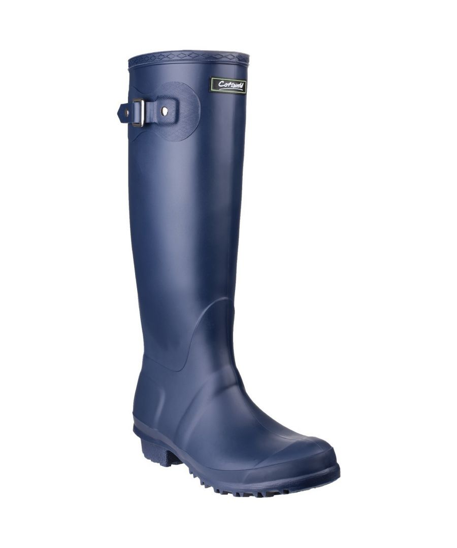 Image for Cotswold Sandringham Buckle-Up Womens Wellington Boots (Navy)