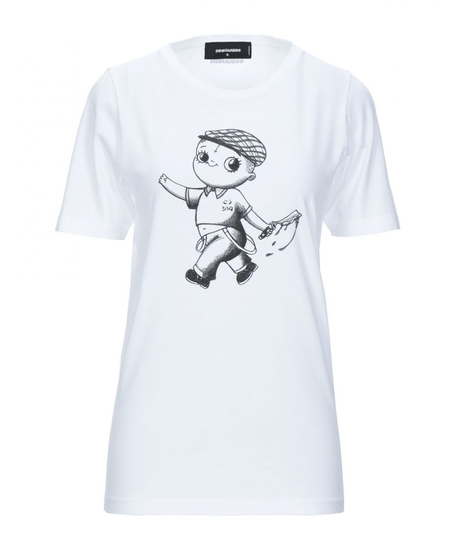 Image for Dsquared2 White Cotton Logo T-Shirt