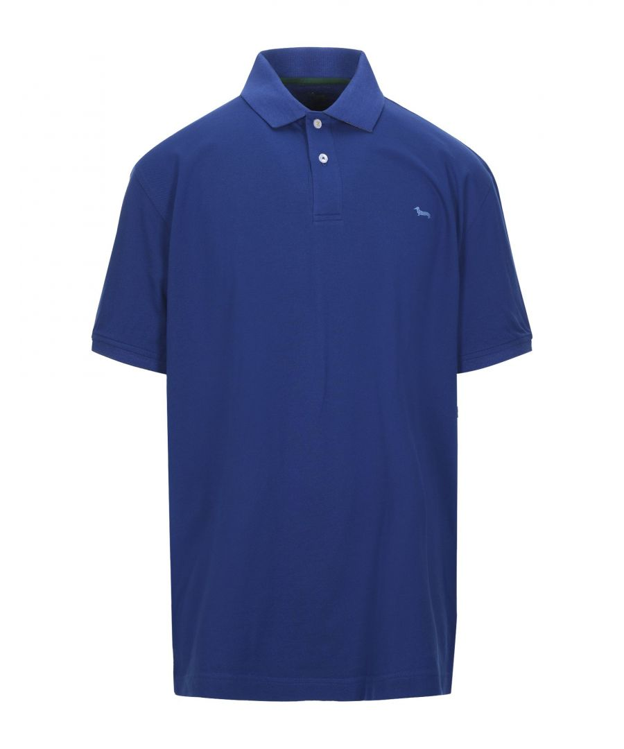 Image for Harmont&Blaine Blue Cotton Polo Shirt
