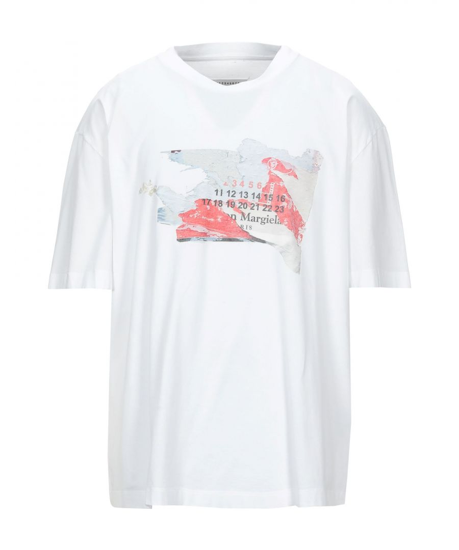 Image for Maison Margiela White Cotton Print T-Shirt