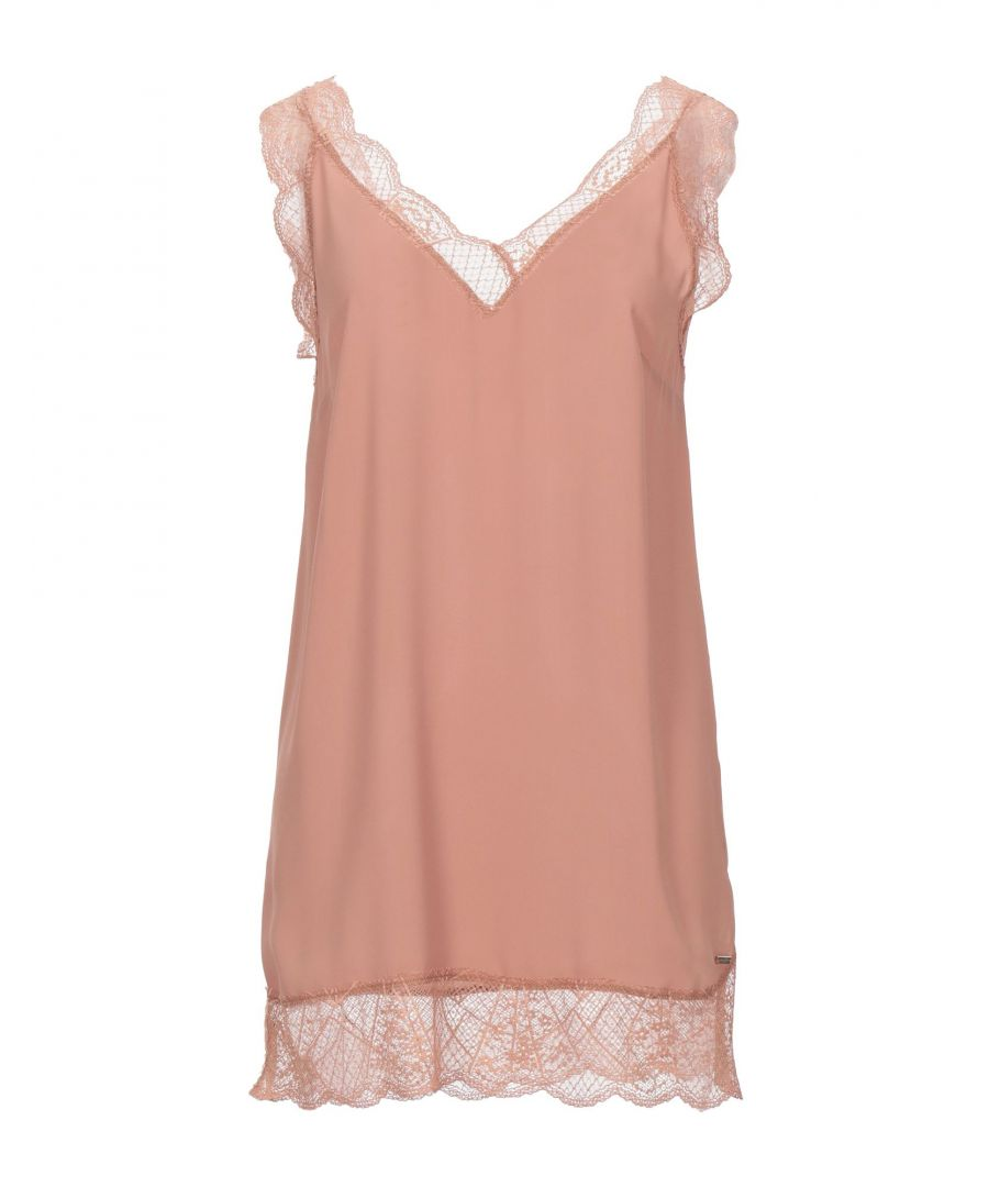 Image for Nenette Pale Pink Crepe And Lace Camisole