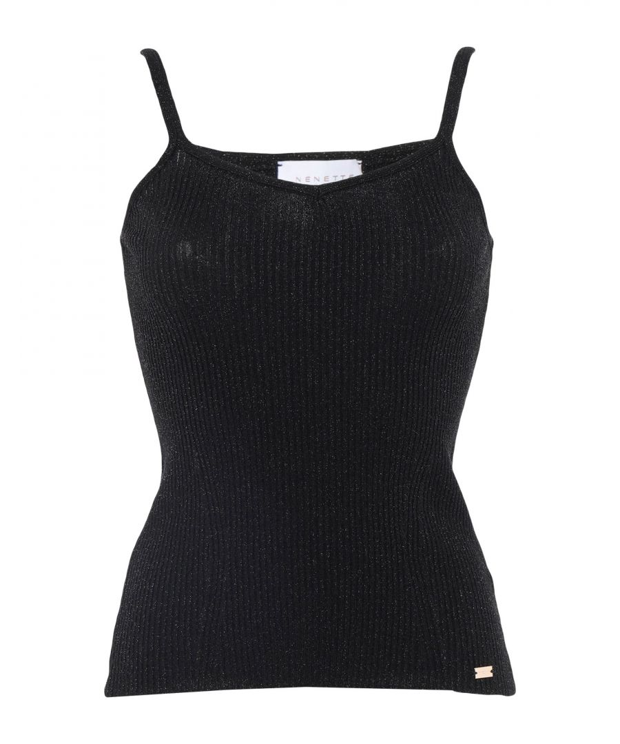 Image for Nenette Black Stretch Camisole