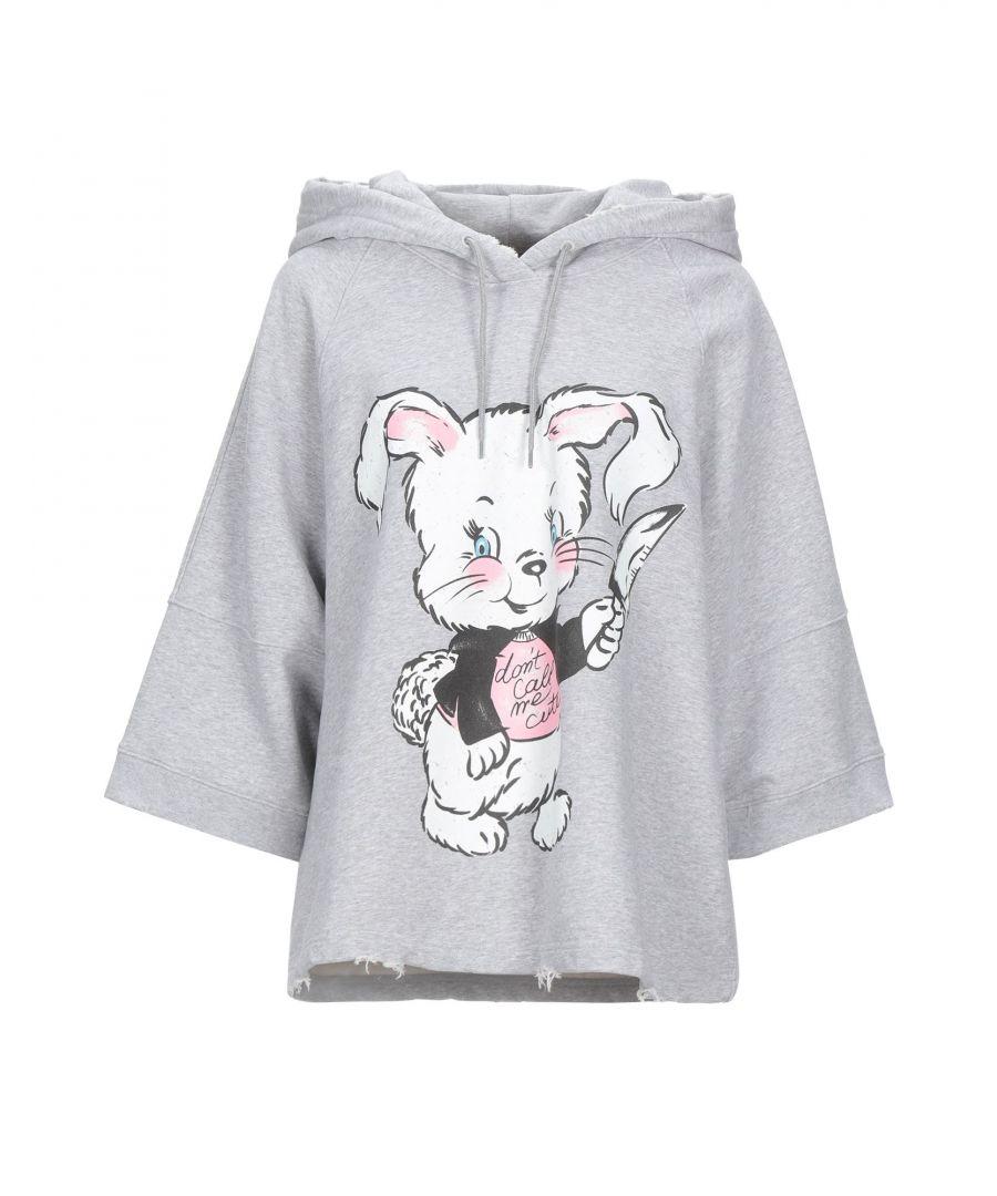 Image for Moschino Woman Sweatshirts Light grey Cotton
