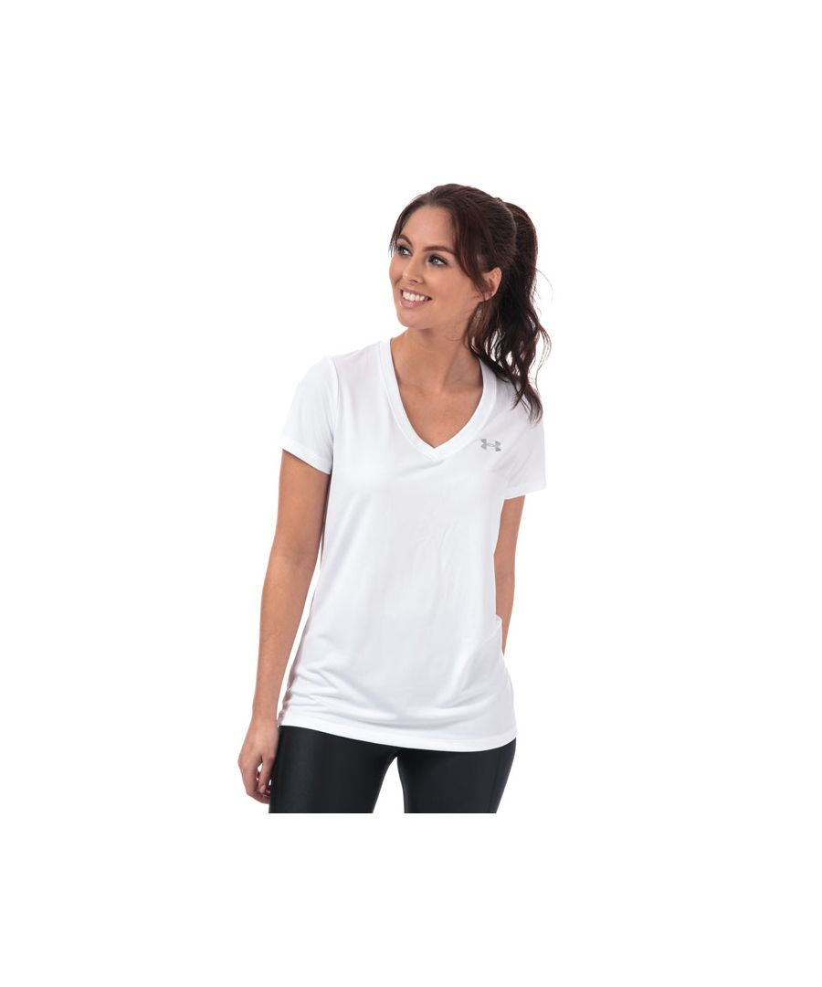 Image for Women's Under Armour Tech V Neck T-Shirt in White