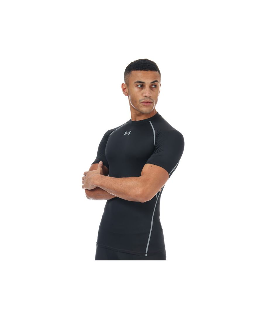Image for Men's Under Armour HeatGear Compression Short Sleeve T-Shirt in Black
