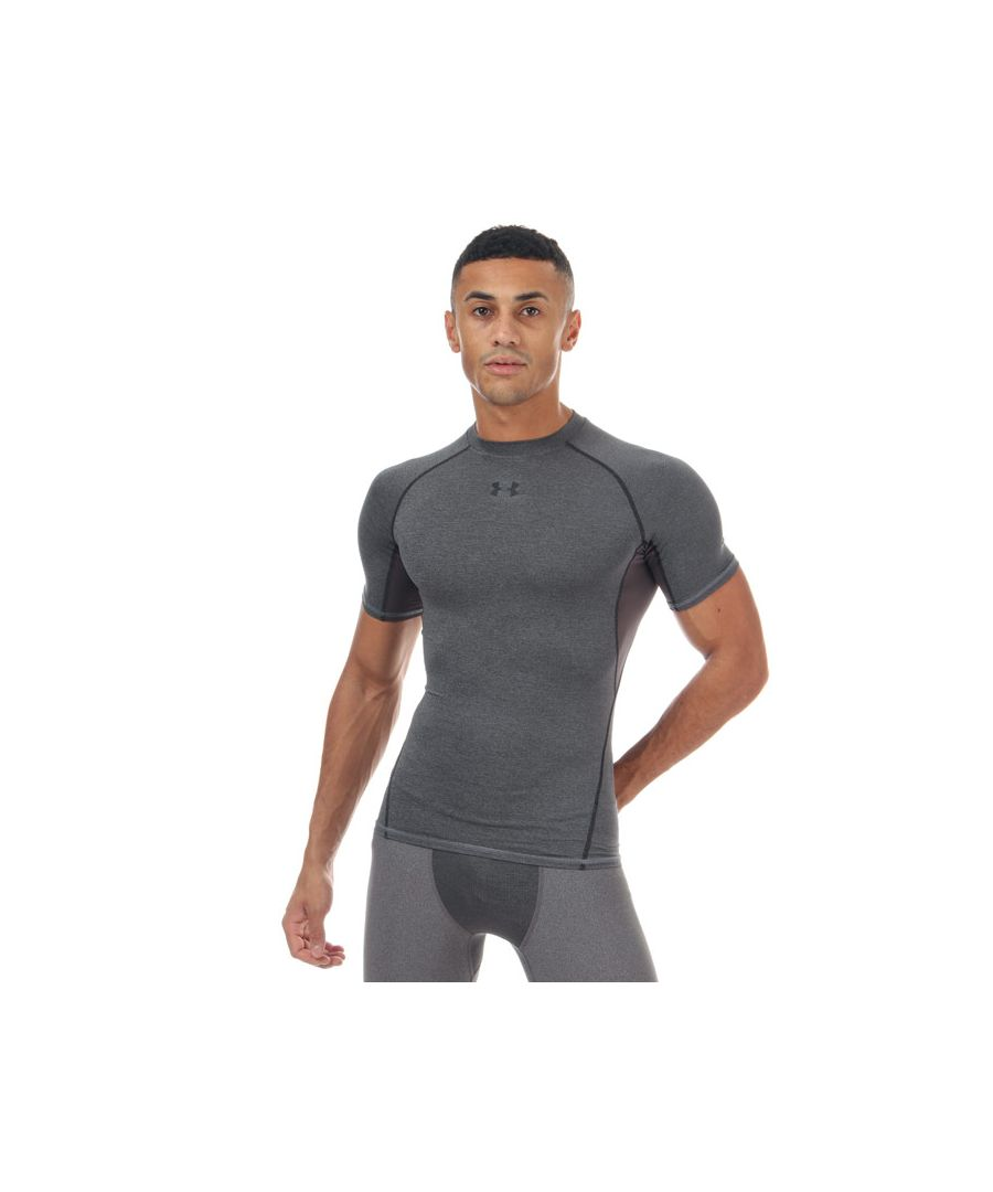 Image for Men's Under Armour HeatGear Compression Short Sleeve T-Shirt in Grey