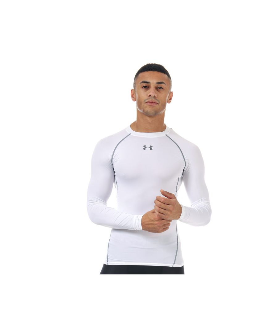 Image for Men's Under Armour Armour Long Sleeve Compression Shirt in White