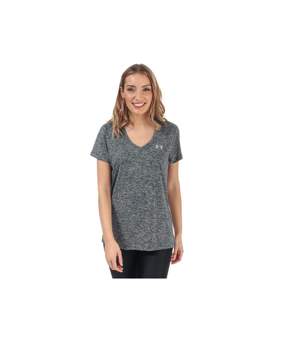 Image for Women's Under Armour Twist Tech V-Neck T-Shirt in Black