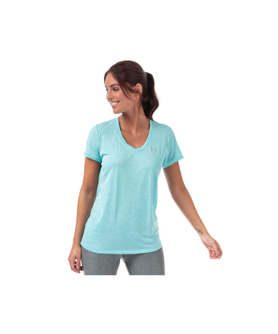Image for Women's Under Armour UA Tech Twist V-Neck T-Shirt in Blue
