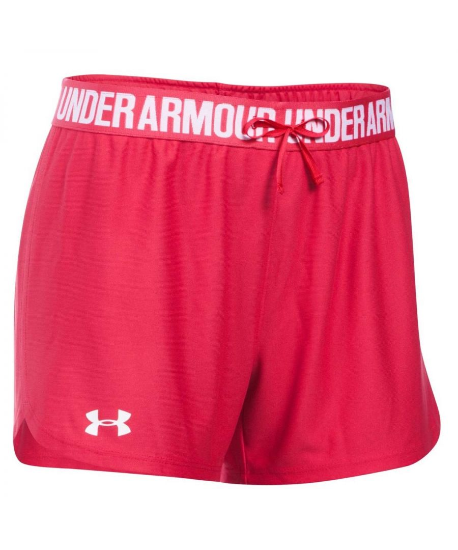 Image for Under Armour Play Up Womens Short Pink