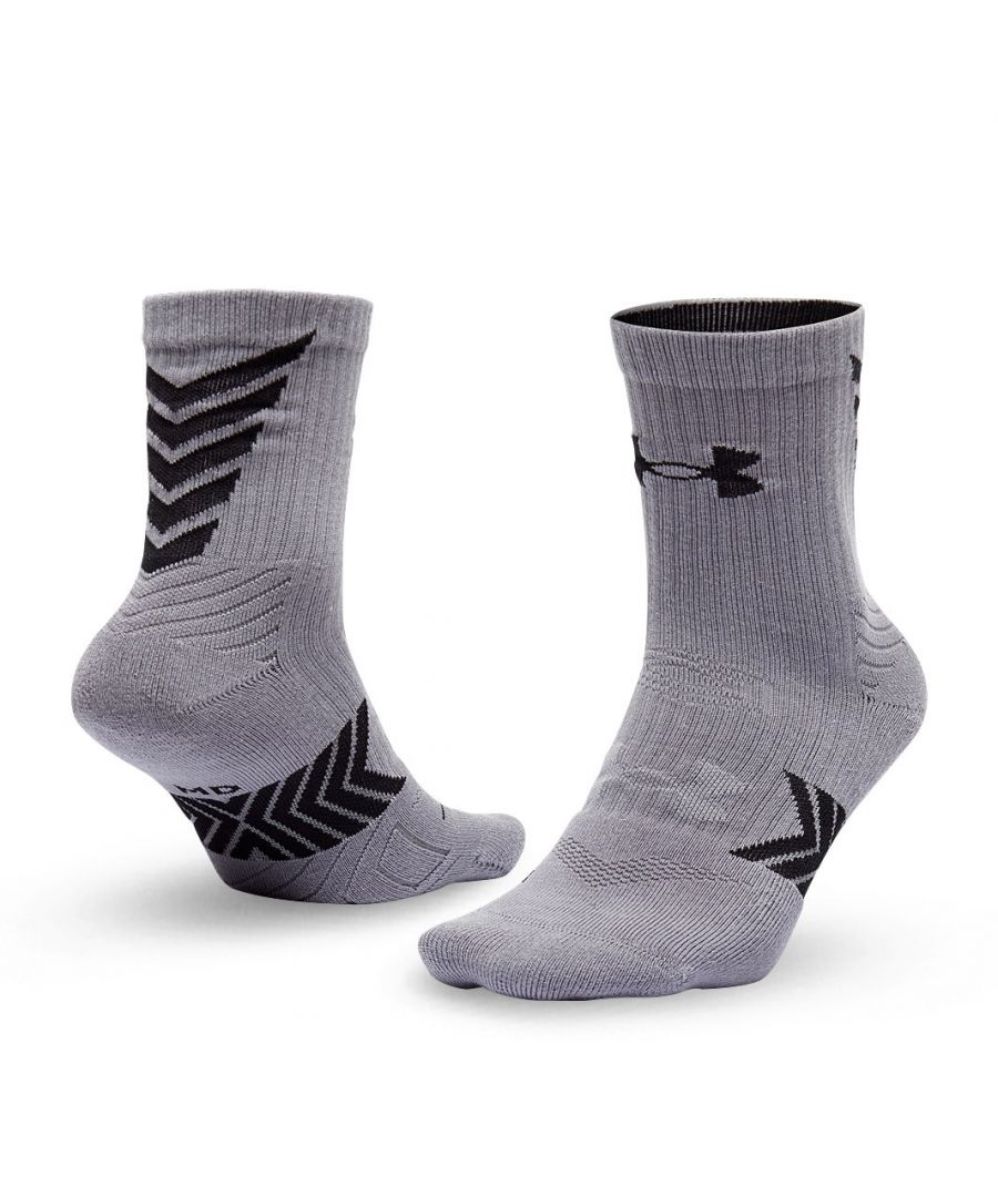 Image for Under Armour Undeniable Mid Crew Adult Socks Grey