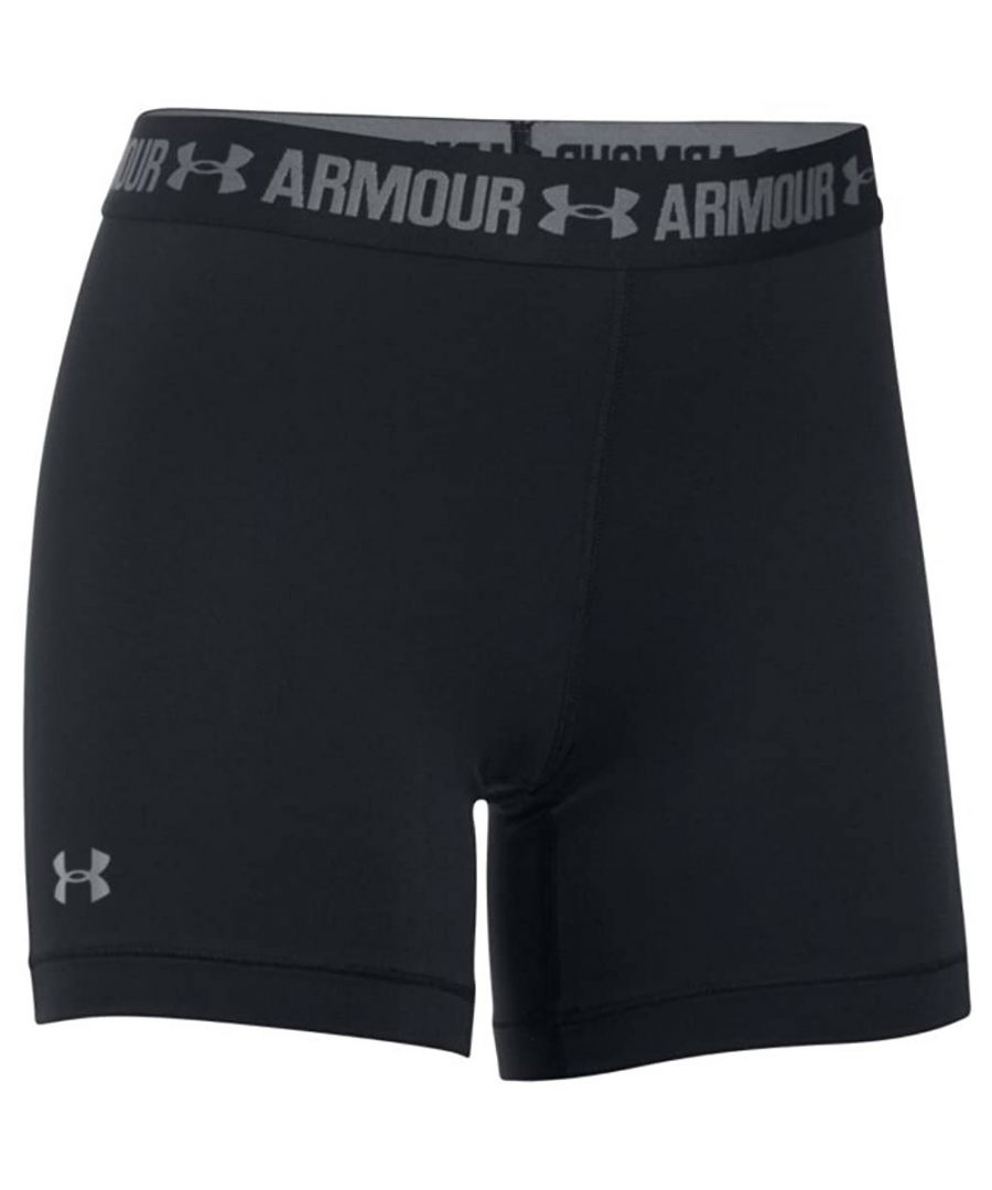 Image for Under Armour HeatGear Armour Middy Womens Short Black
