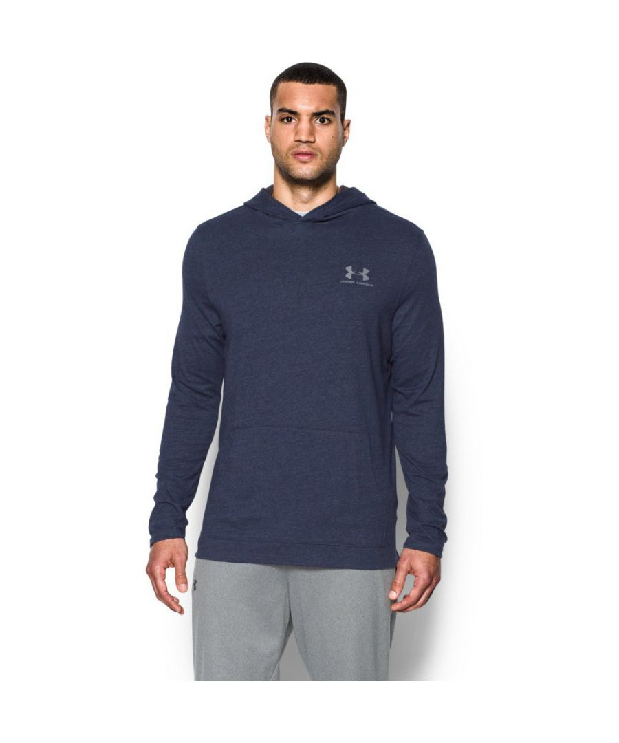 Image for Under Armour Mens Triblend Long Sleeve Jersey Pull Over Hoodie Top