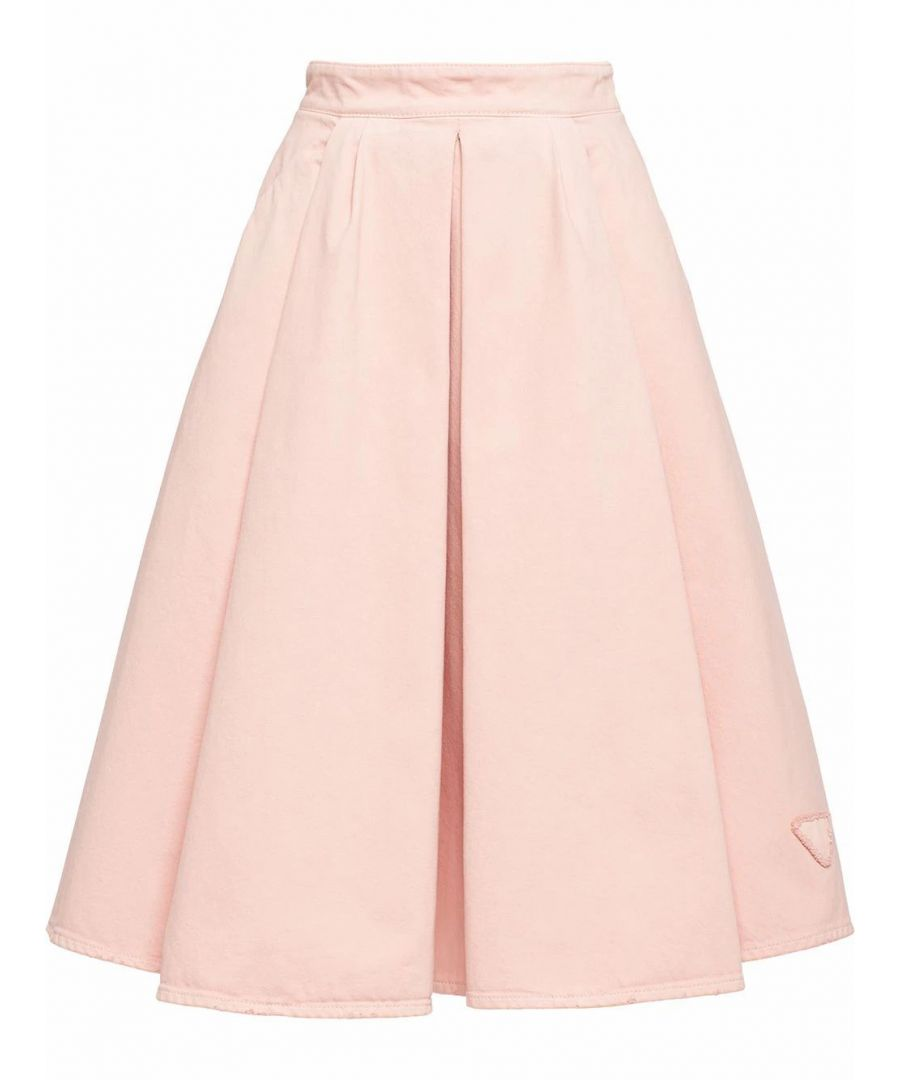 Image for PRADA WOMEN'S GFD139S2011VTWF0E18 PINK COTTON SKIRT