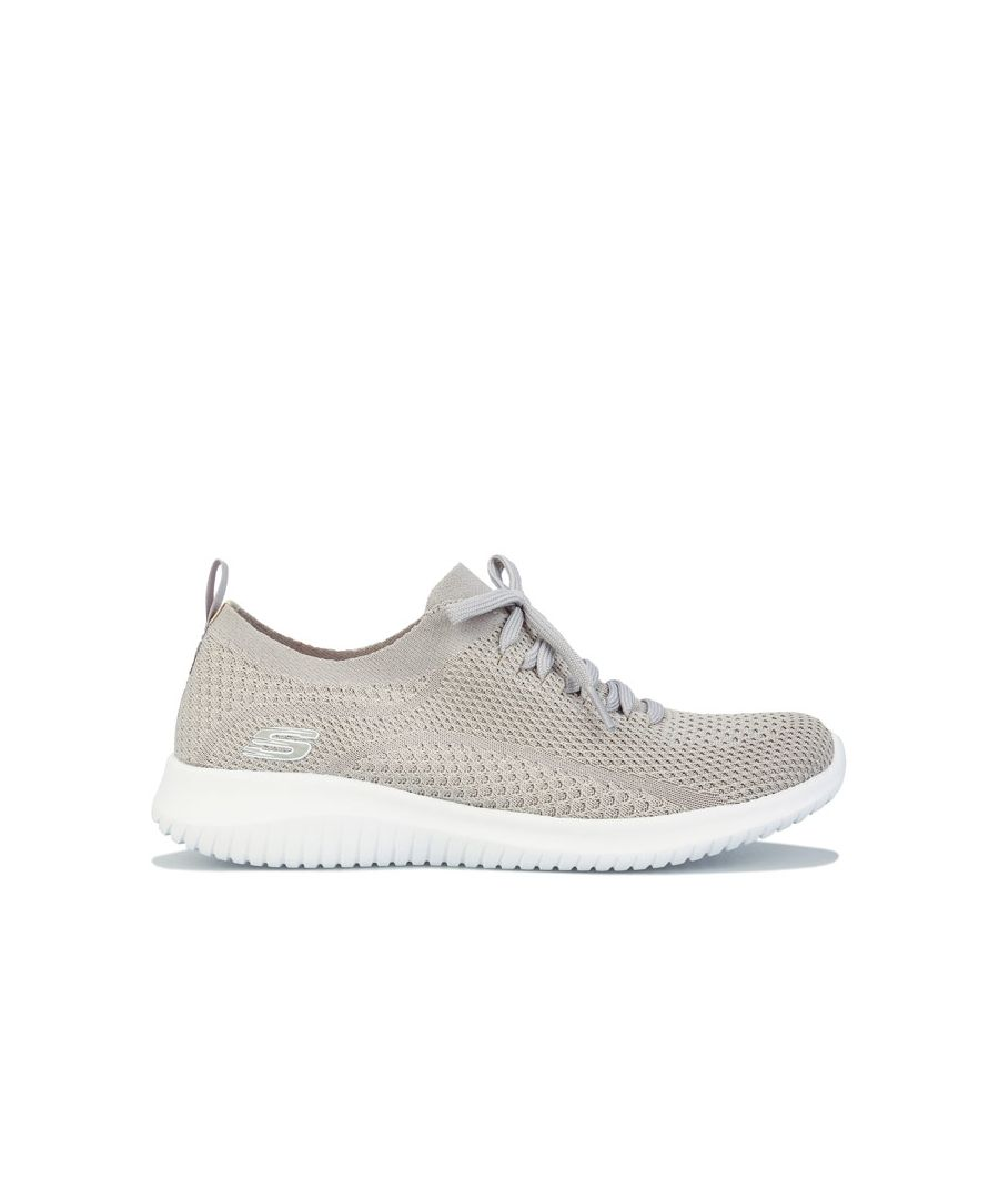 Image for Women's Skechers Ultra Flex Statements Trainers in Taupe
