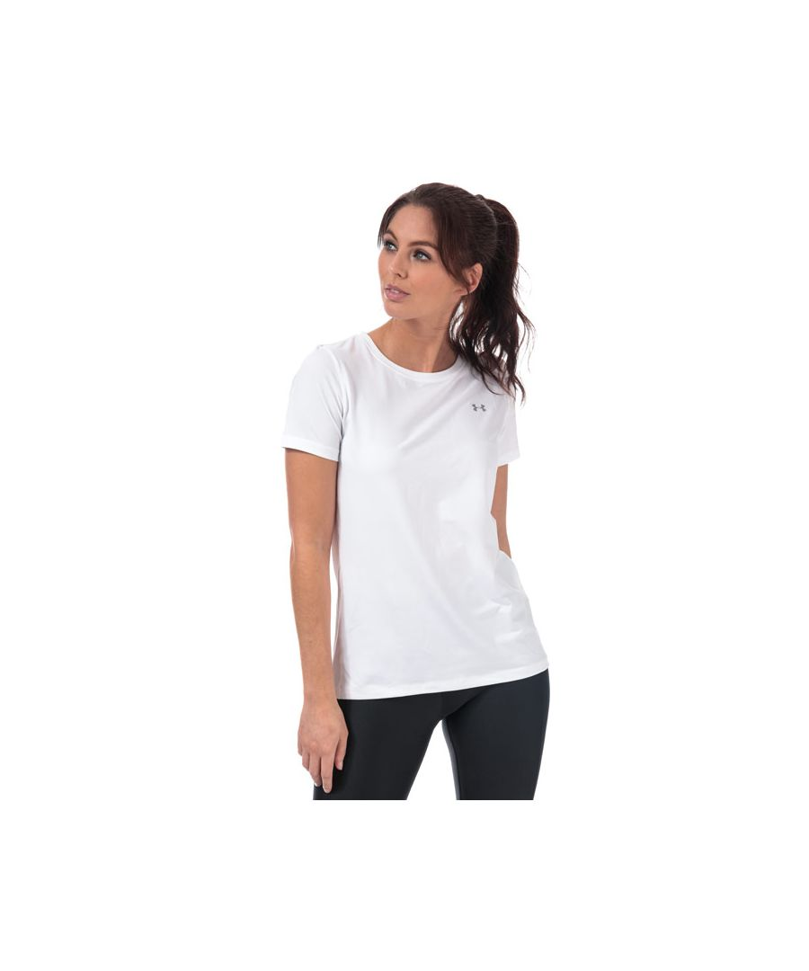 Image for Women's Under Armour HeatGear Short Sleeve T-Shirt in White