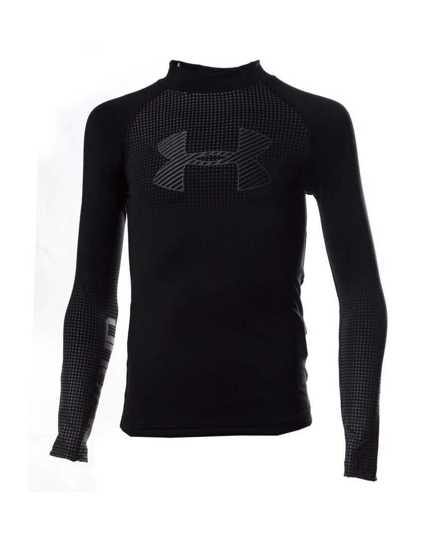 Image for Under Armour ColdGear Armour Mock Graphic Kids Baselayer Black