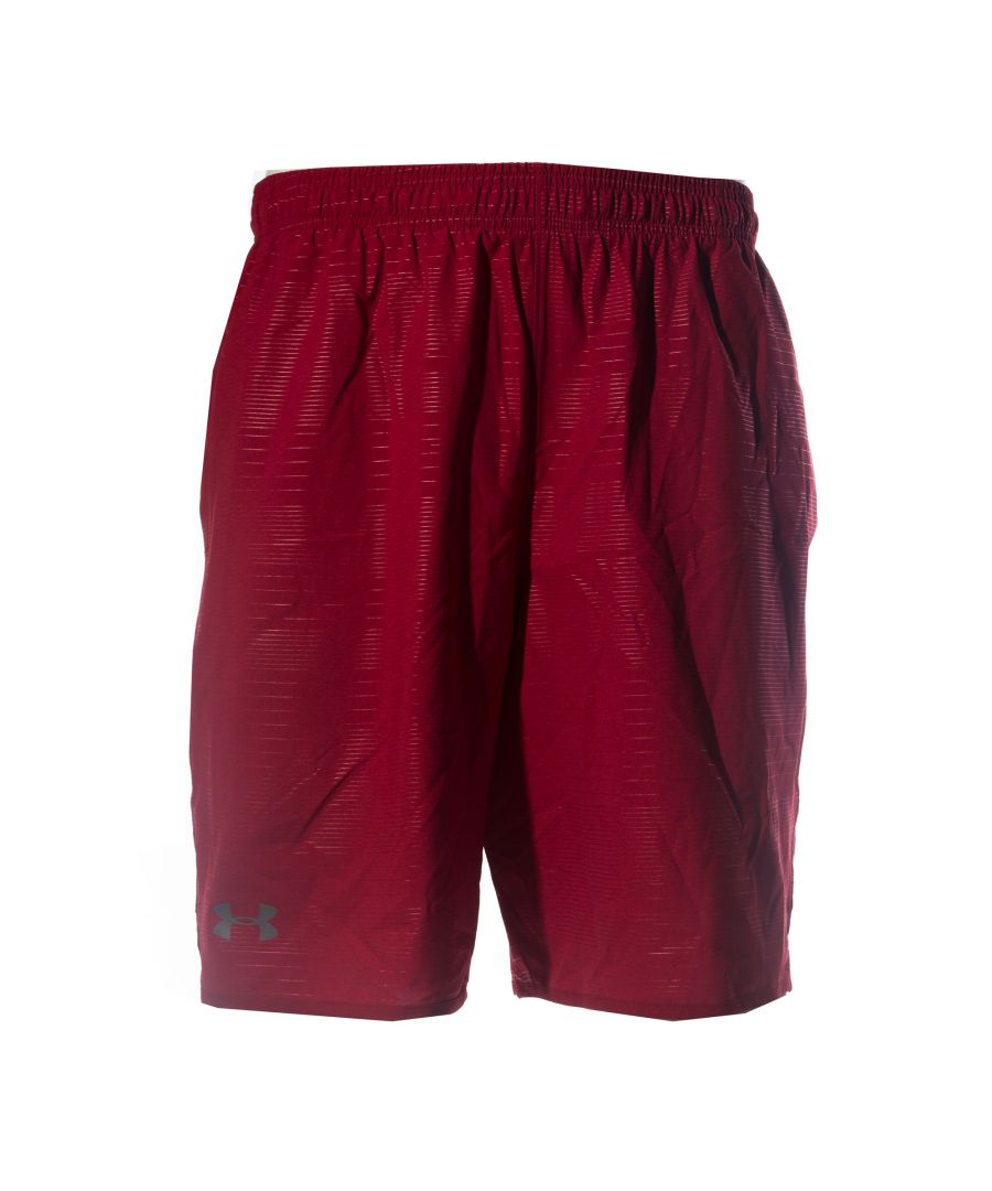 Image for Under Armour Qualifier Printed Mens Short Red