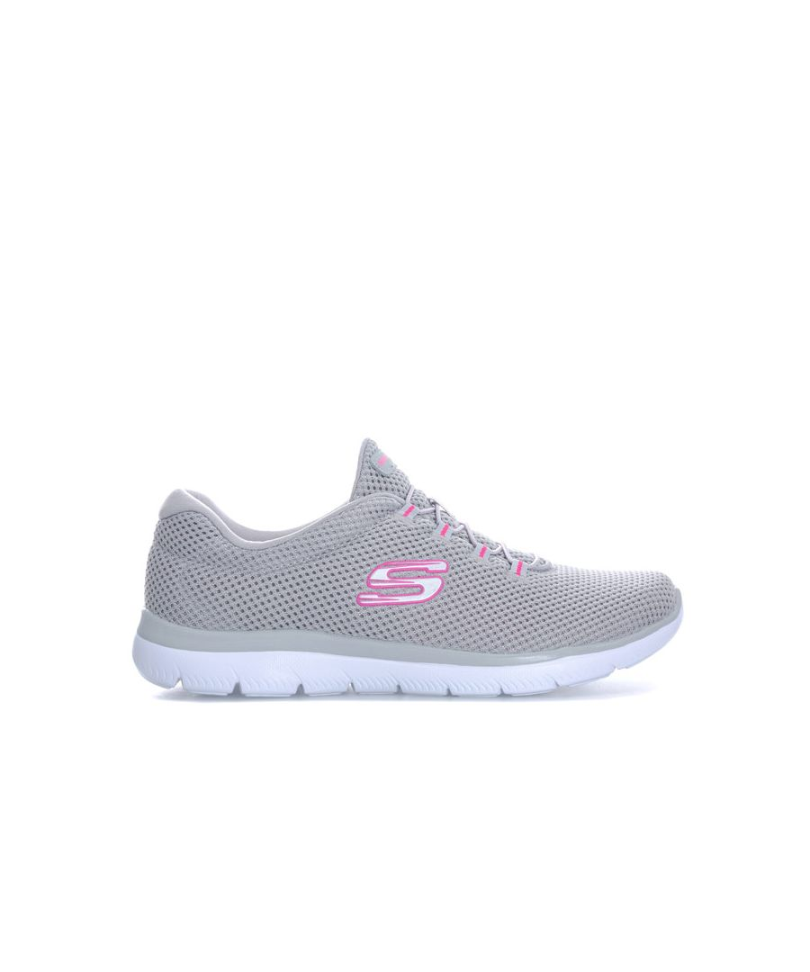 Image for Women's Skechers Summits Quick Lapse Trainers in Grey pink