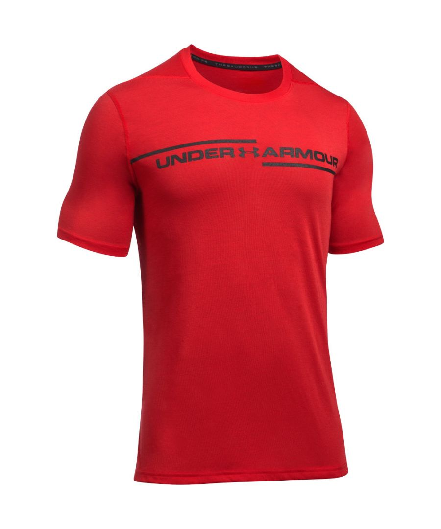 Image for Under Armour Mens Threadborne Wicking Cross Chest Short Sleeve T Shirt