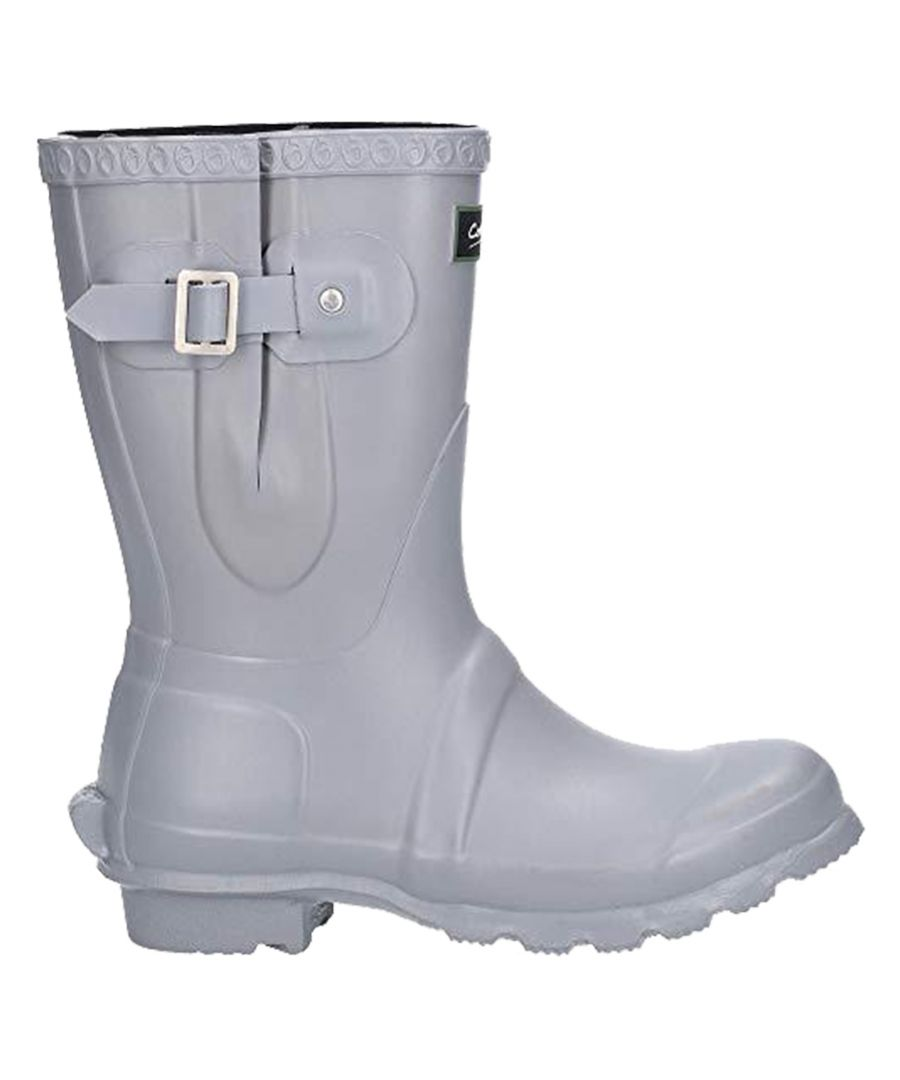 Image for Cotswold Womens/Ladies Windsor Short Waterproof Pull On Wellington Boots (Slate)