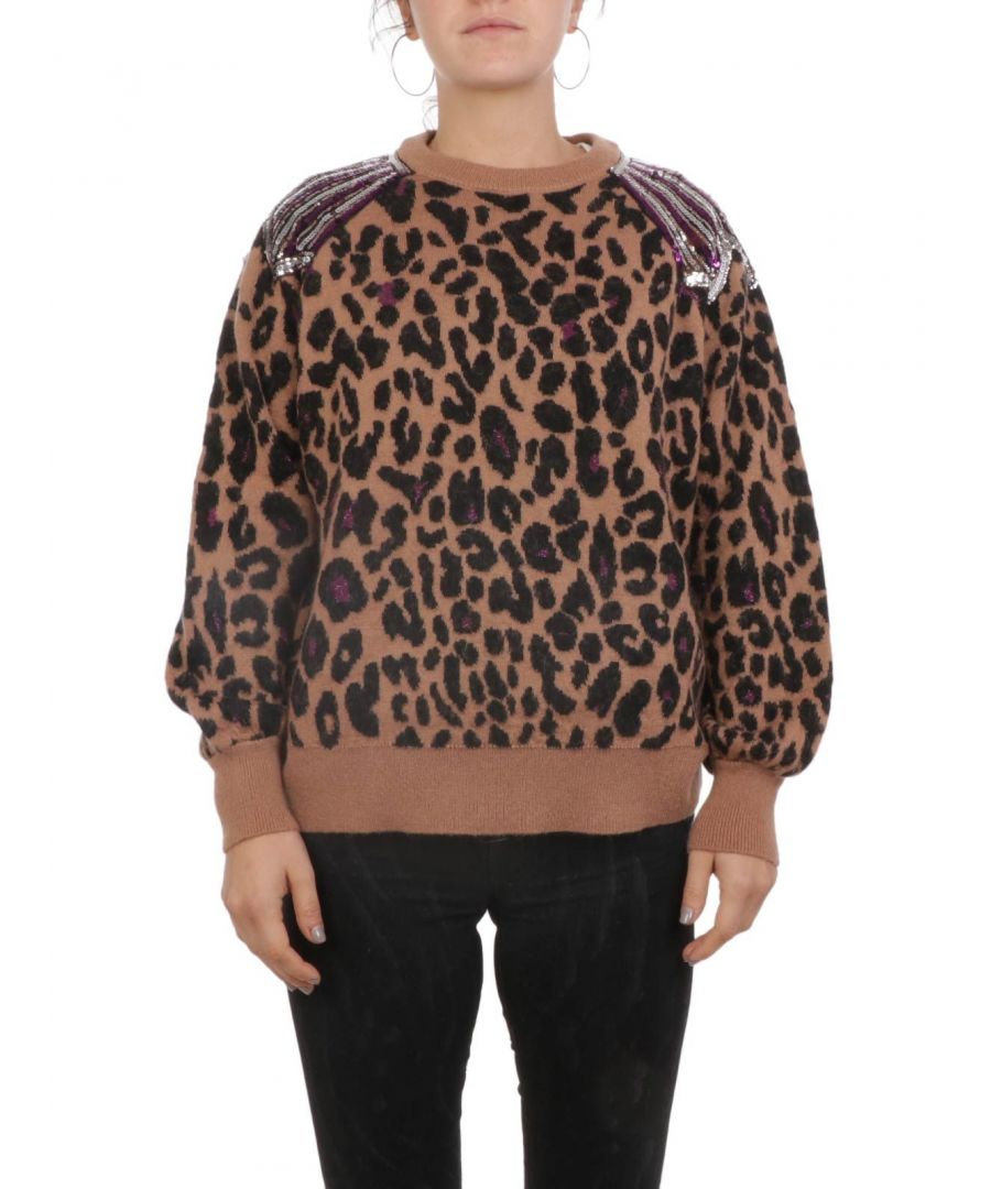 Image for ANIYE BY WOMEN'S 18130201940 BROWN ACRYLIC SWEATER