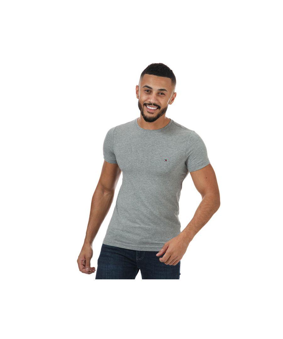 Image for Men's Tommy Hilfiger Stretch Slim Fit T-Shirt in Grey