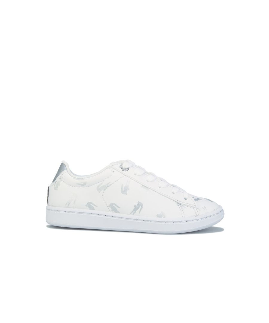 Image for Girl's Lacoste Children Carnaby Evo Trainers in White silver