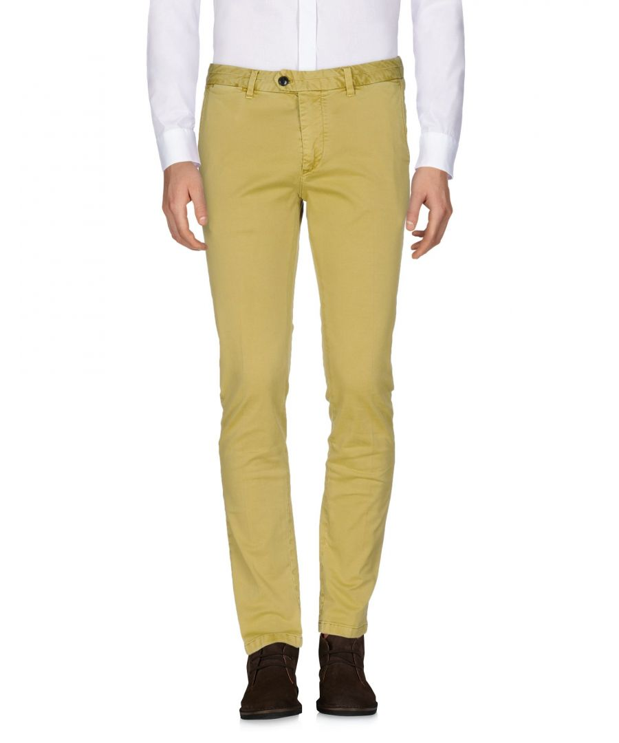 Image for Scotch & Soda Acid Green Cotton Tapered Leg Chino Trousers